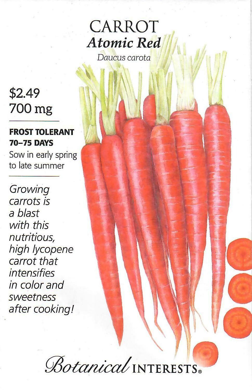 Carrot Atomic Red Botanical Interests