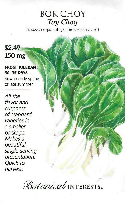 Bok Choy Toy Choy hybrid Botanical Interests