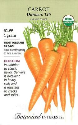 Carrot Danvers Org Botanical Interests