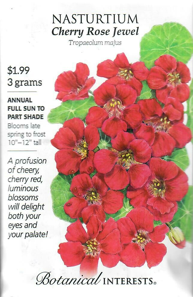 Nasturtium Cherry Rose Jewel Botanical Interests