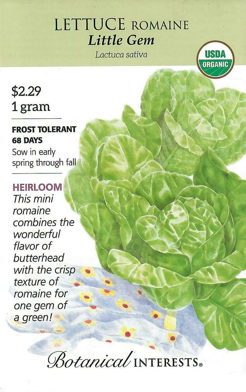 Lettuce Romaine Little Gem Org Botanical Interests