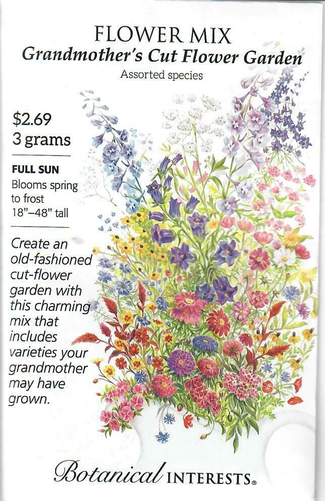Flower Mix Grandmother Cut Flw Botanical Interests
