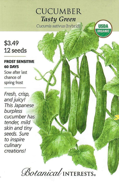 Cucumber Tasty Green Org Botanical Interests