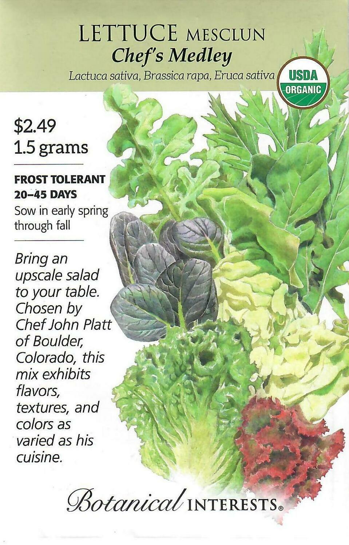 Lettuce Mesclun Chef's Medley Org Botanical Interests