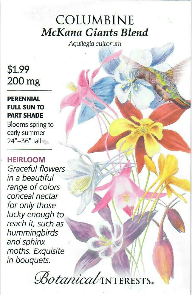 Columbine McKana Giants Blend Botanical Interests