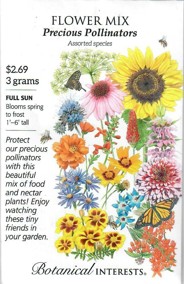 Flower Mix Precious Pollinators Botanical Interests