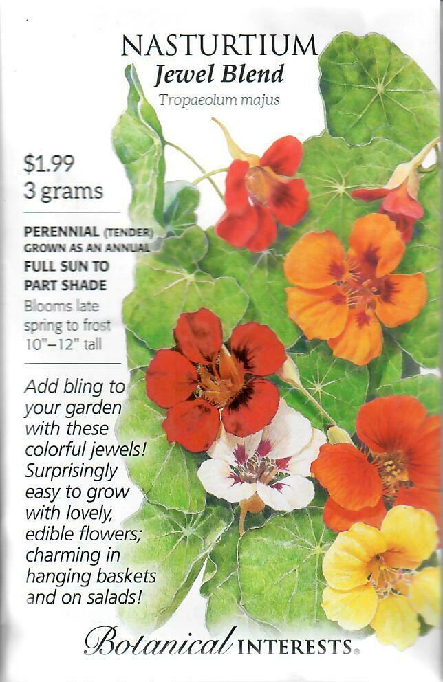 Nasturtium Jewel Blend Botanical Interests