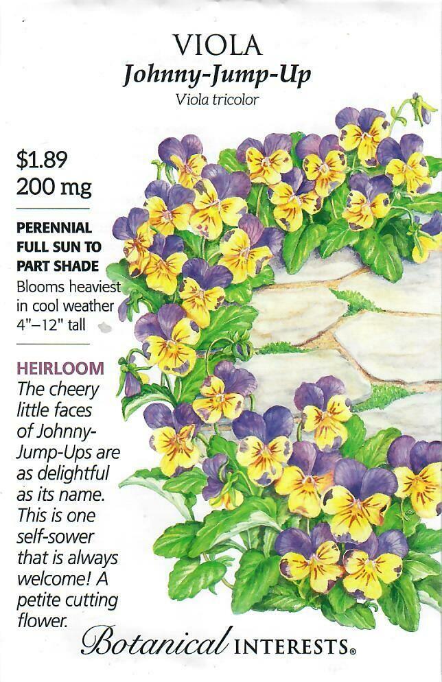 Viola Johnny-Jump-Up Botanical Interests