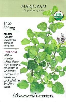 Marjoram Org Botanical Interests
