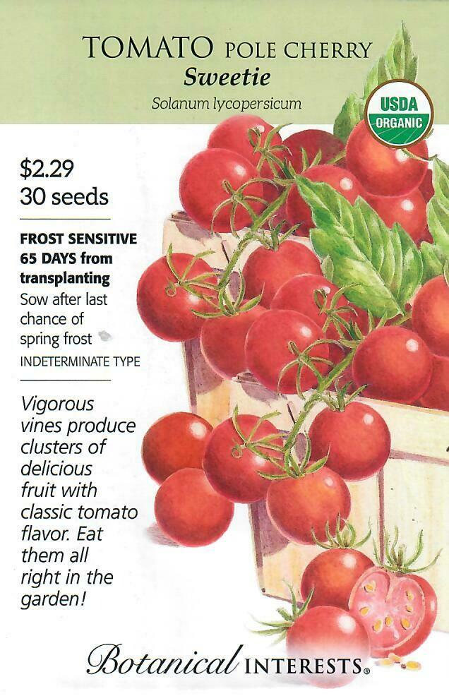 Tomato Cherry Sweetie Org Botanical Interests