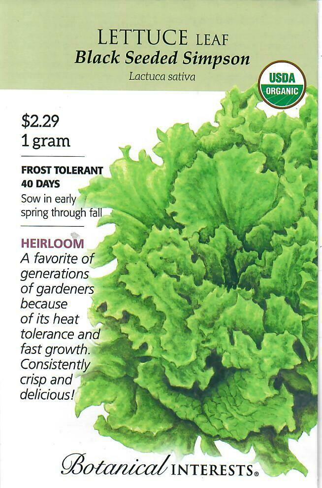 Lettuce Leaf Black Sd Simpson Org Botanical Interests