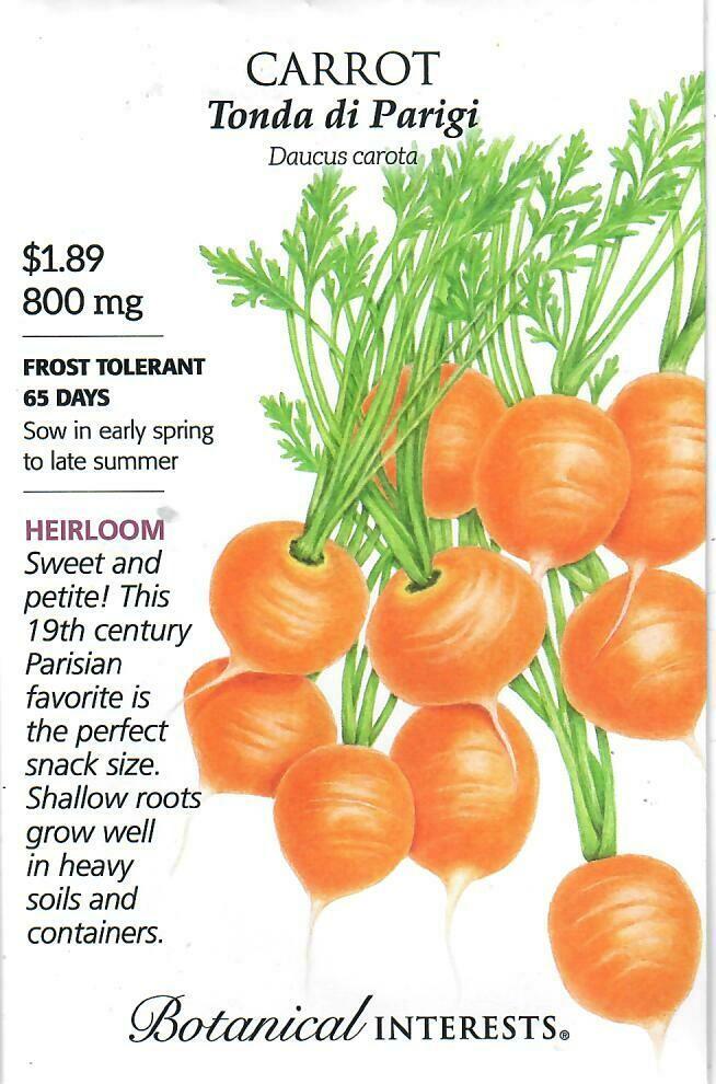 Carrot Tonda di Parigi Botanical Interests