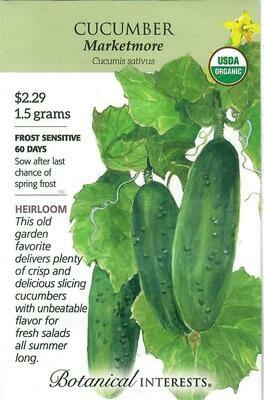 Cucumber Marketmore Org Botanical Interests