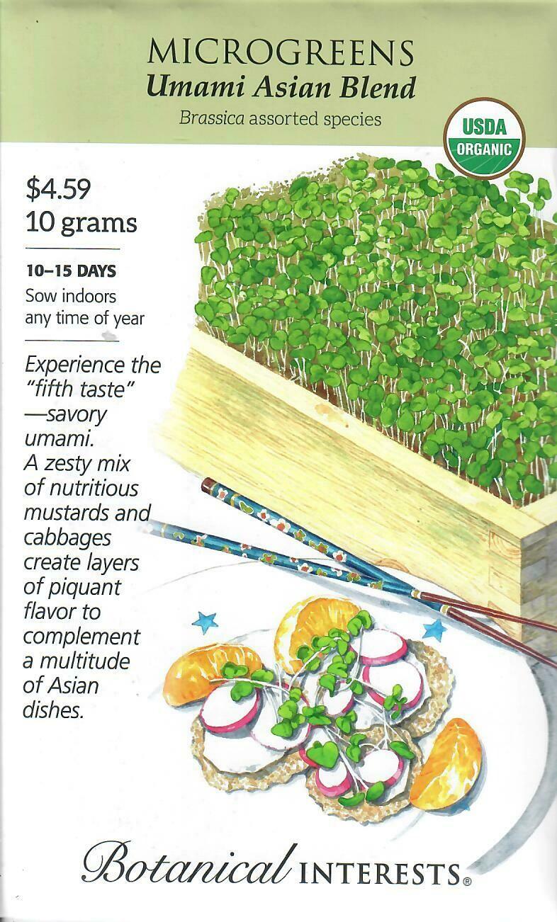 Microgreens Umami Asian Blnd Org LG Packet Botanical Interests