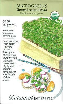Microgreens Umami Asian Blnd Org LG Packet Botanical Interests