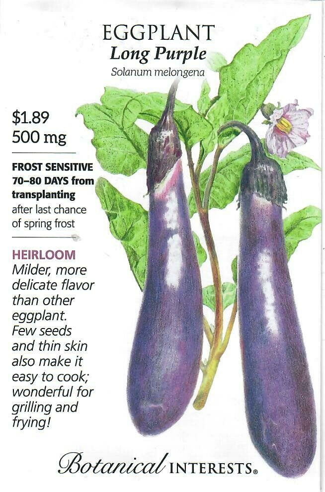 Eggplant Long Purple Botanical Interests