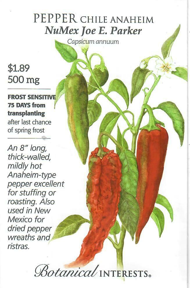 Pepper Chile Anaheim NMJoeParker Botanical Interests