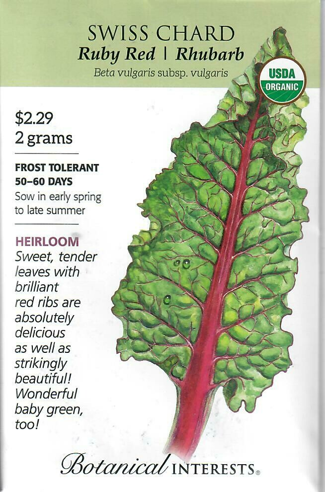 Swiss Chard Ruby Red Org Botanical Interests