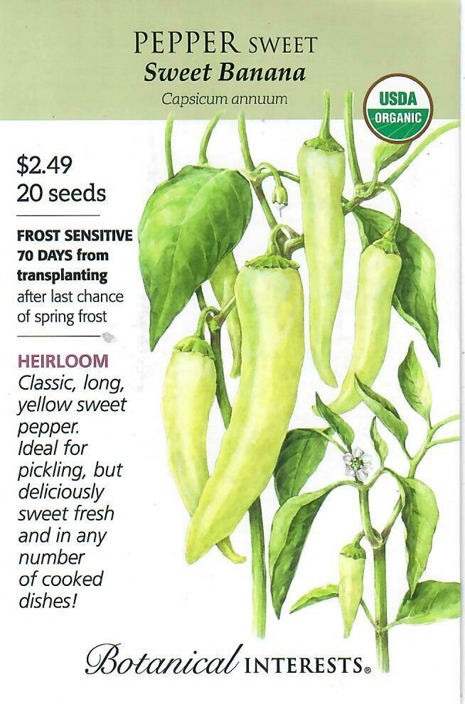 Pepper Sweet Banana Org Botanical Interests