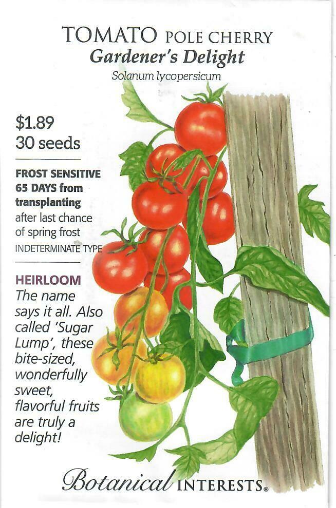 Tomato Cherry Gardener's Delight Botanical Interests