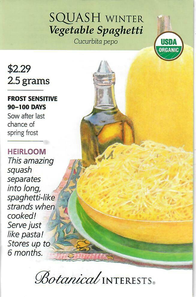 Squash Winter Veg Spaghetti Org Botanical Interests