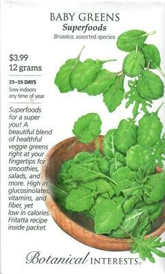Baby Greens Superfoods Mix LG Packet Botanical Interests