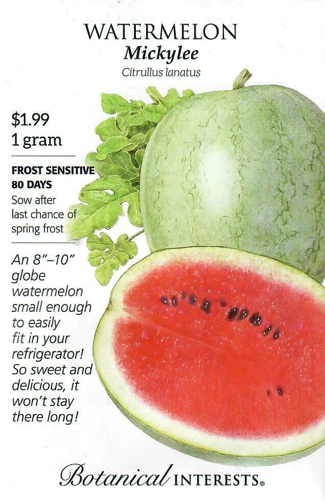 Watermelon Mickylee Botanical Interests