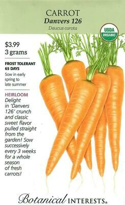 Carrot Danvers Org LG Packet Botanical Interests