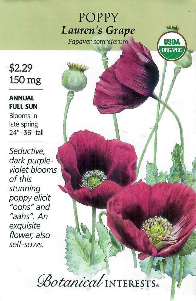 Poppy Bread Lauren's Grape Org Botanical Interests