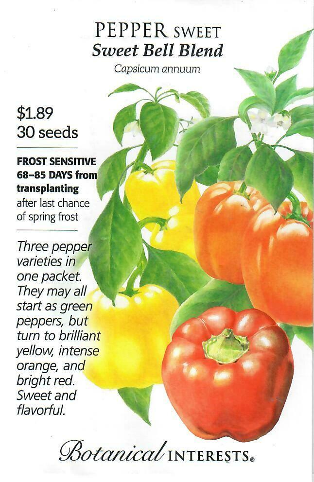 Pepper Sweet (grn/r/y) Bells Blend Botanical Interests