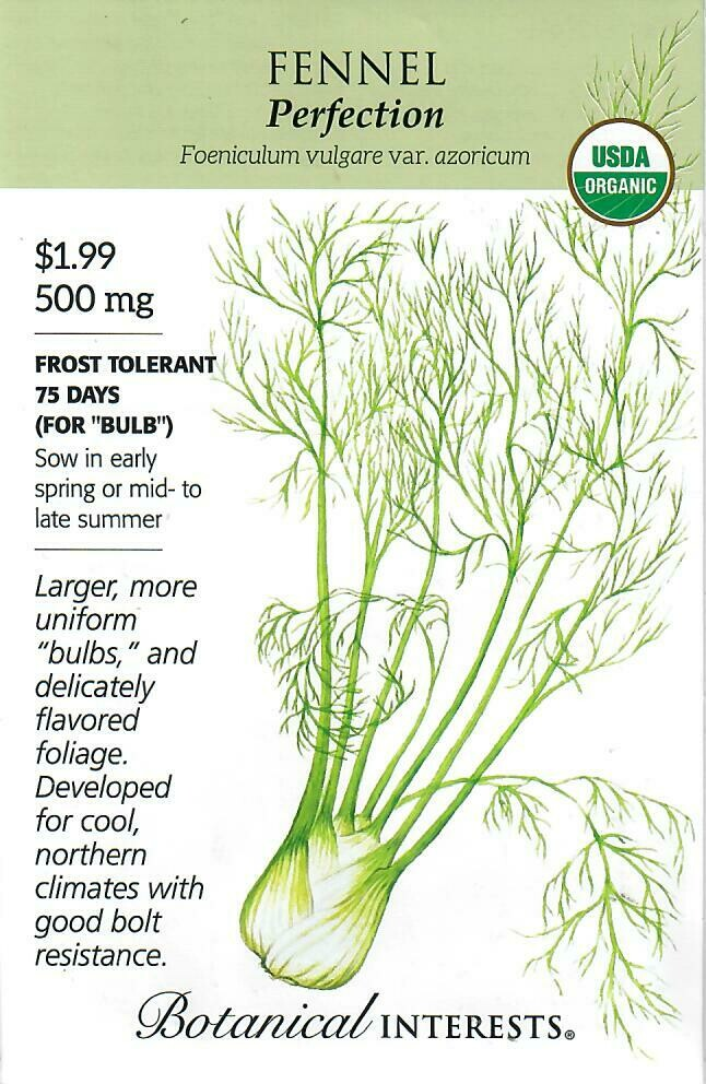 Fennel Perfection Org Botanical Interests
