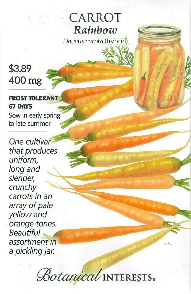 Carrot Rainbow hybrid Botanical Interests