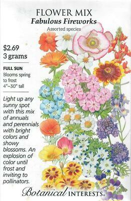 Flower Mix Fabulous Fireworks Botanical Interests