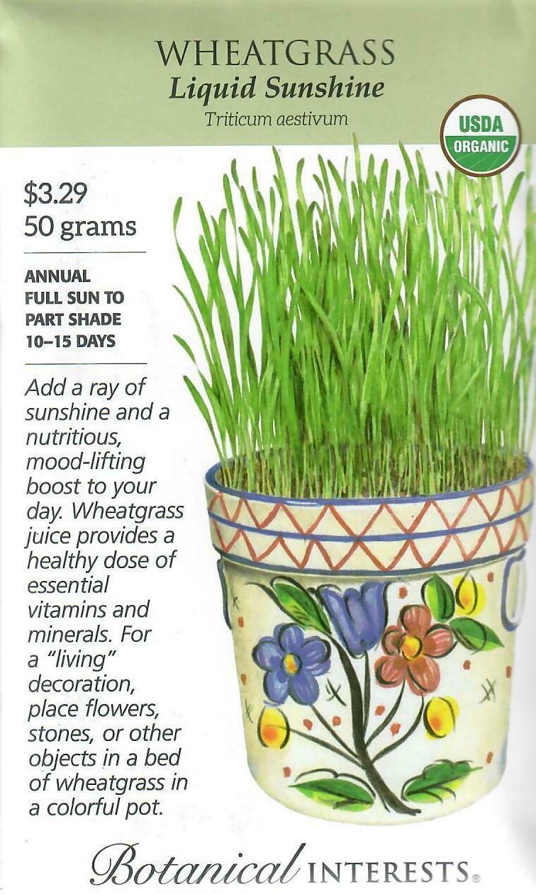 Wheatgrass Org LG Packet Botanical Interests
