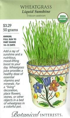 Wheatgrass Org LG Packet Botanical Interests