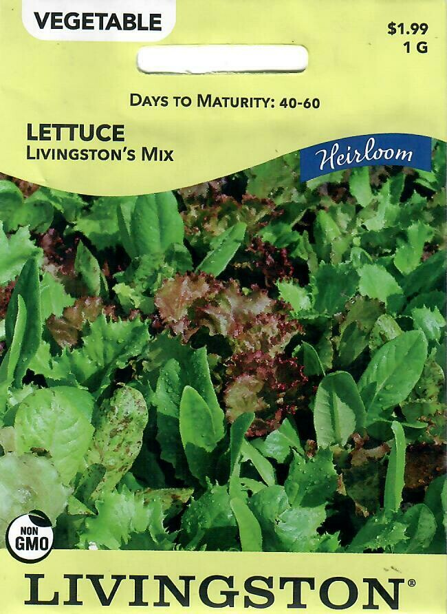 LETTUCE - HEIRLOOM - LIVINGSTON'S MIX