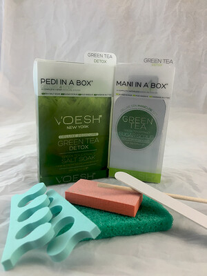 Green Tea Pedi/Mani In A Box