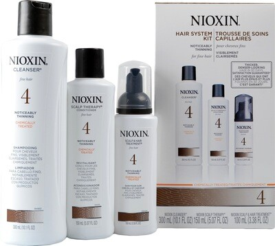 Nioxin 4 Starter Kit - Shampoo- Conditioner-  Scalp Treatment
