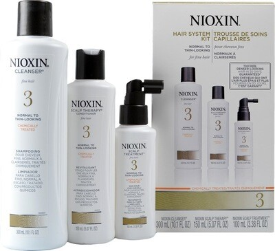 Nioxin 3 Starter Kit - Shampoo - Conditioner - Treatment
