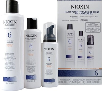 Nioxin 6 Starter Kit - Shampoo - Conditioner - Treatment