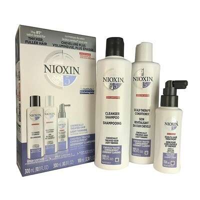 Nioxin 5 Starter Kit - Shampoo - Conditioner - Treatment