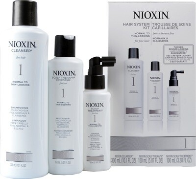 Nioxin 1 Starter Kit - Shampoo - Conditioner - Treatment