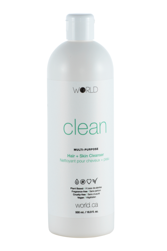 World Clean - Hair And Skin Cleanser 16.9 oz - 500 ml