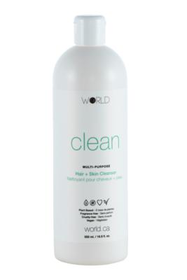 World Clean - Hair And Skin Cleanser 16.9 oz - 500 ml
