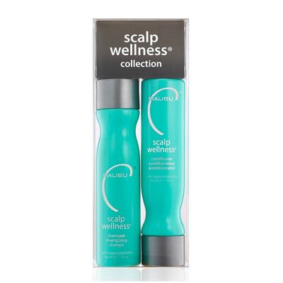 Malibu C - Scalp Wellness Duo - Shampoo, Conditioner, 9oz each Plus FREE Treatment