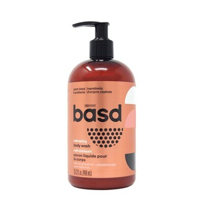 BASD BODY CARE  REFRESHING CITRUS GRAPEFRUIT BODY WASH 450ml