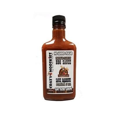 Crazy Mooskies No Added Sugar BBQ Sauce - Smok'N Garlic 375 ml