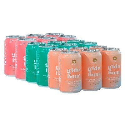 gldn hour - Collagen Sparkling Water Infused With Aloe 6 X 355 ml