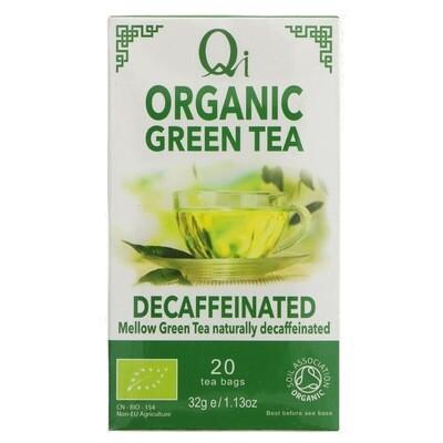 Qi Organic Green Tea Decaffeinated - 20 Bags