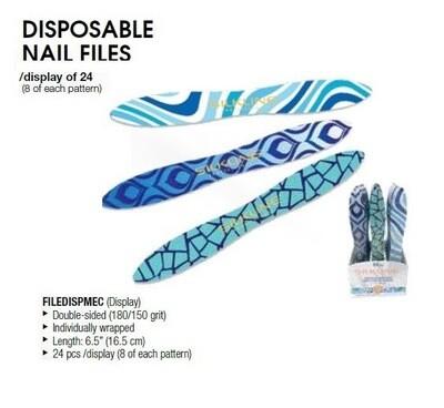 Silkline Professional MEDITERRANEO NAIL FILE (Disposable) 180/150 Grit  1 File